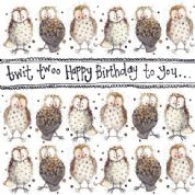 Alex Clark Art - Greeting Card - Little Sparkles - Birthday Owls
